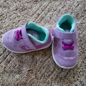 Purple and Teal Tennis Shoes
